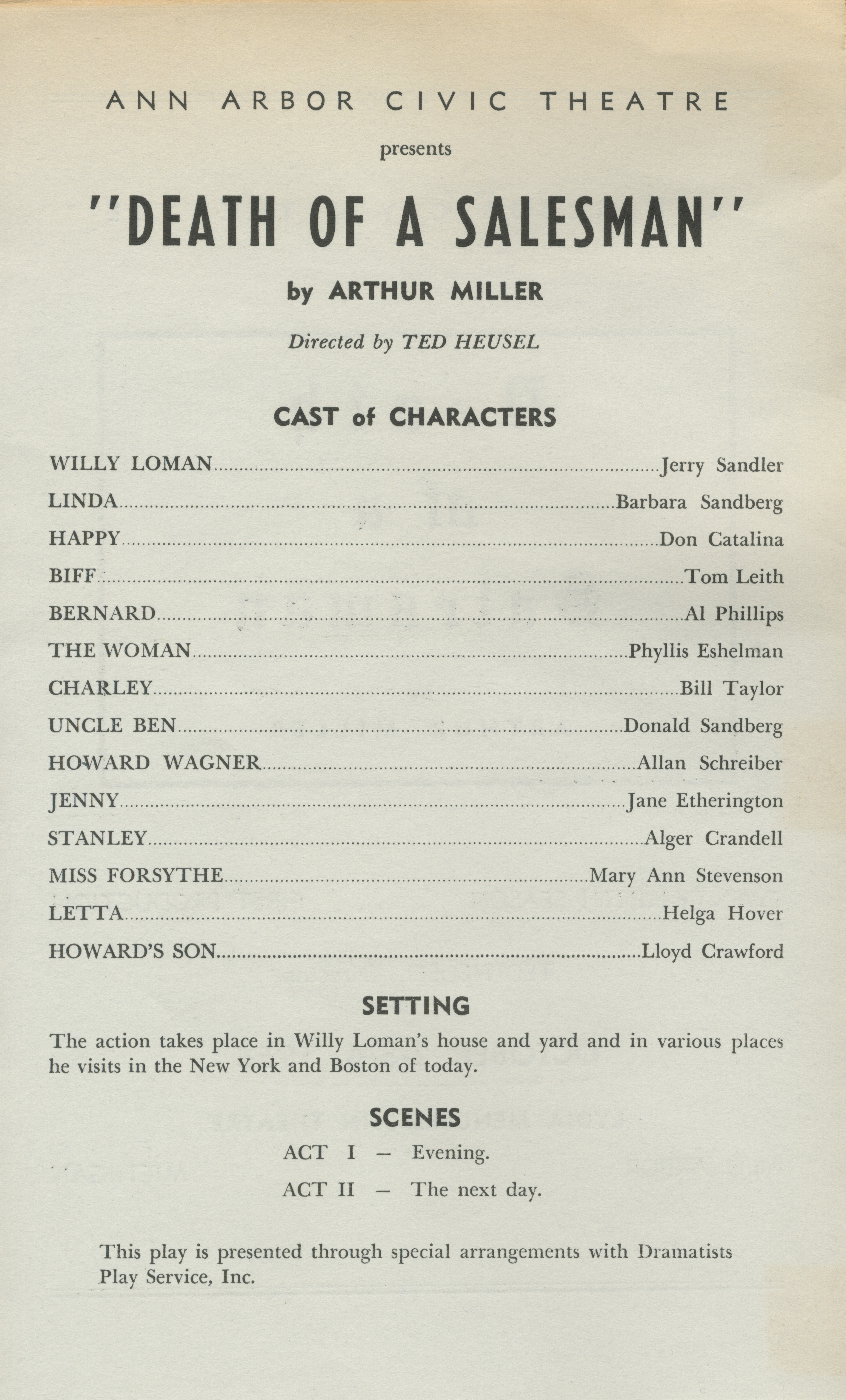 an examination of the character of willy loman in arthur millers death of a salesman