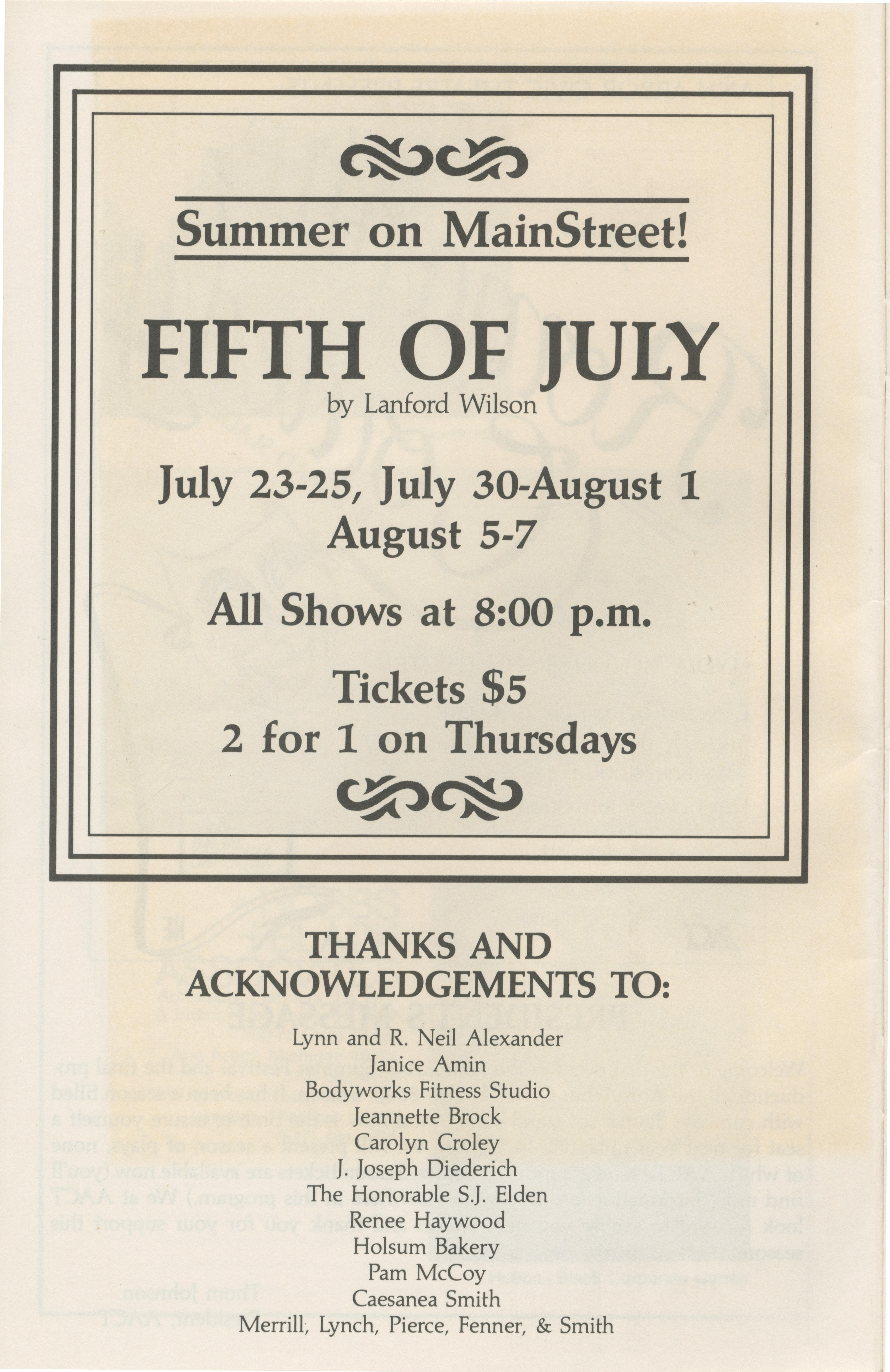 ann arbor civic theatre program r tic comedy 17 1987 ann arbor civic theatre program r tic comedy 17 1987