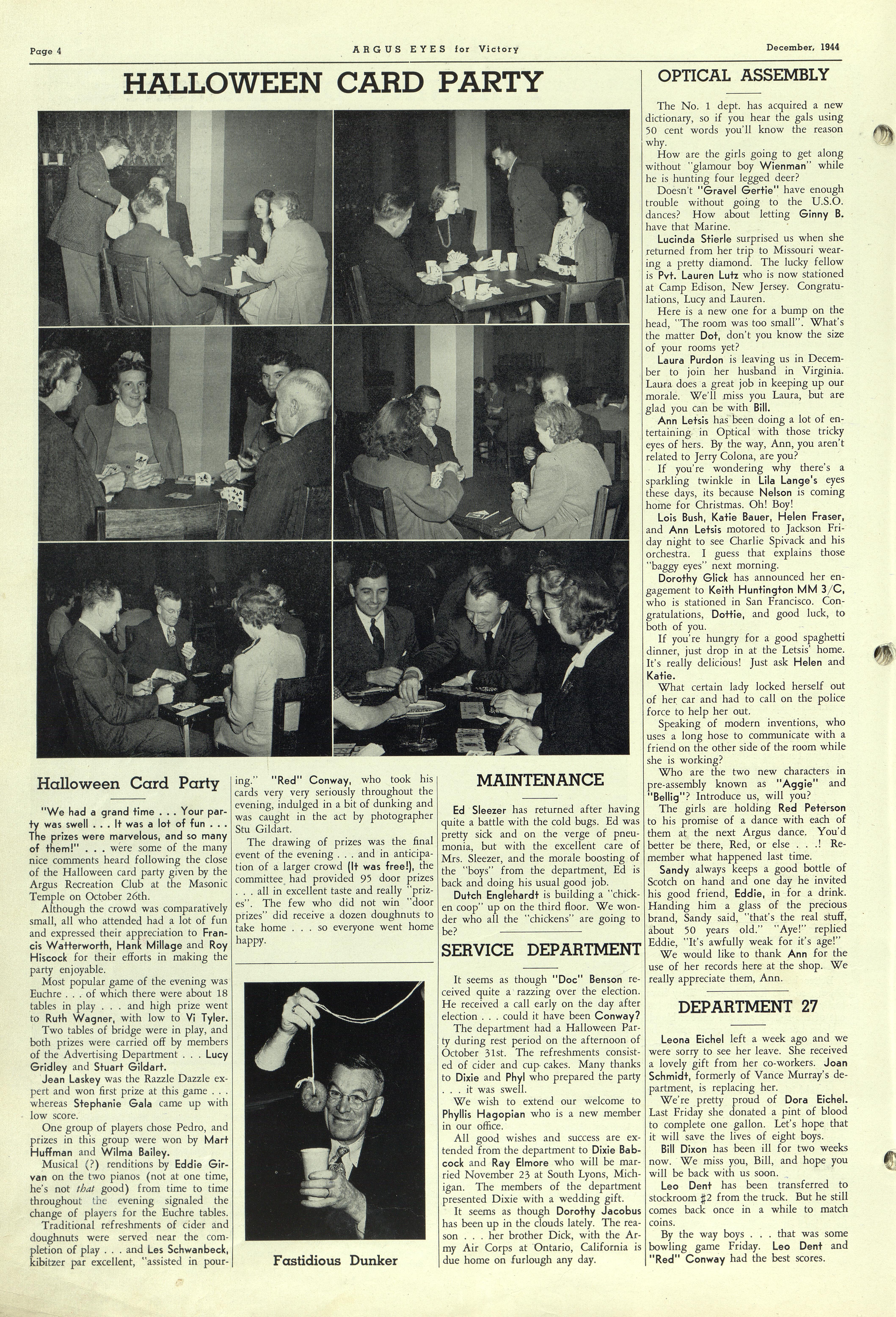 Argus Eyes December 1944 Ann Arbor District Library