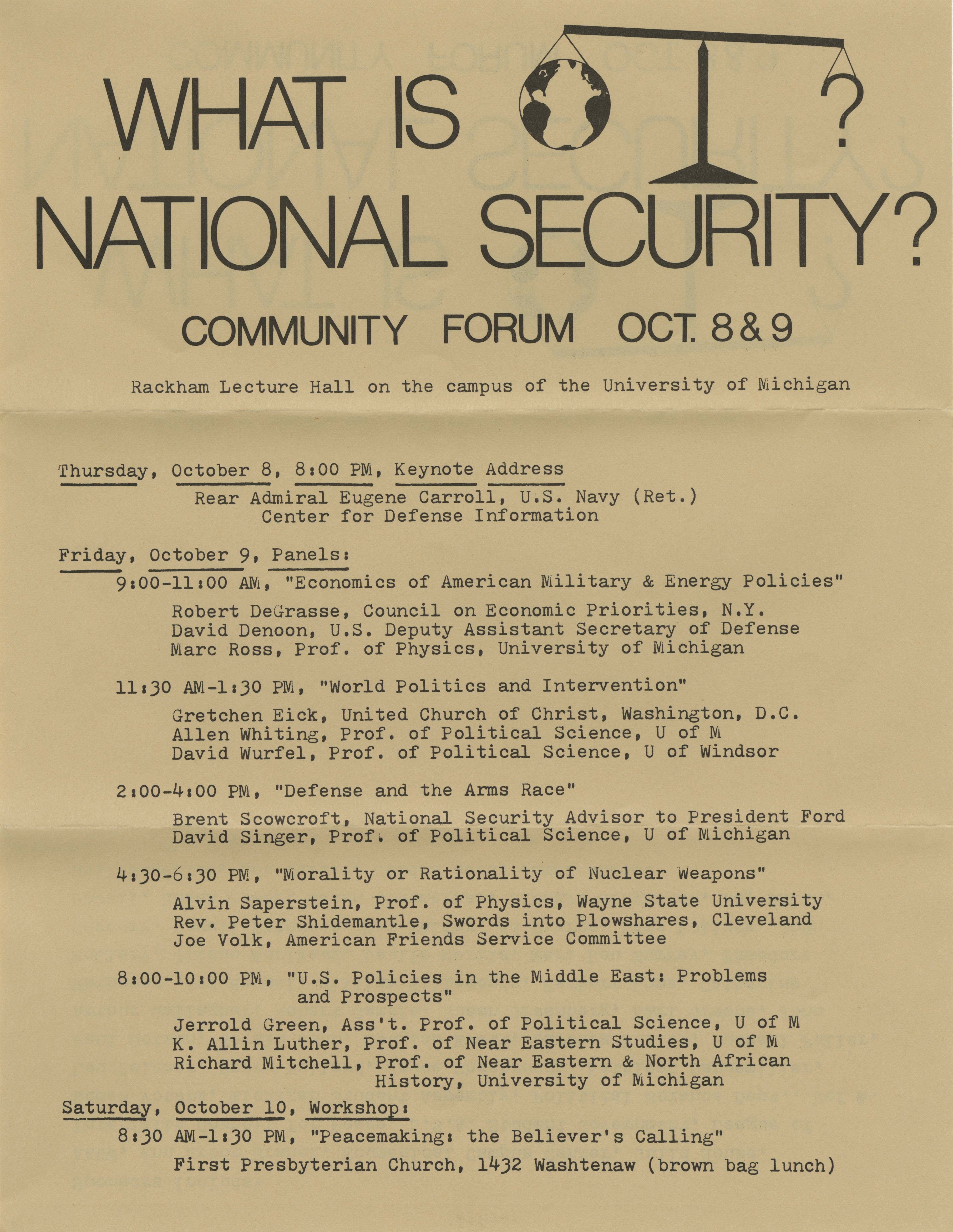 national security National security-related events, reports and findings that deserve more attention.
