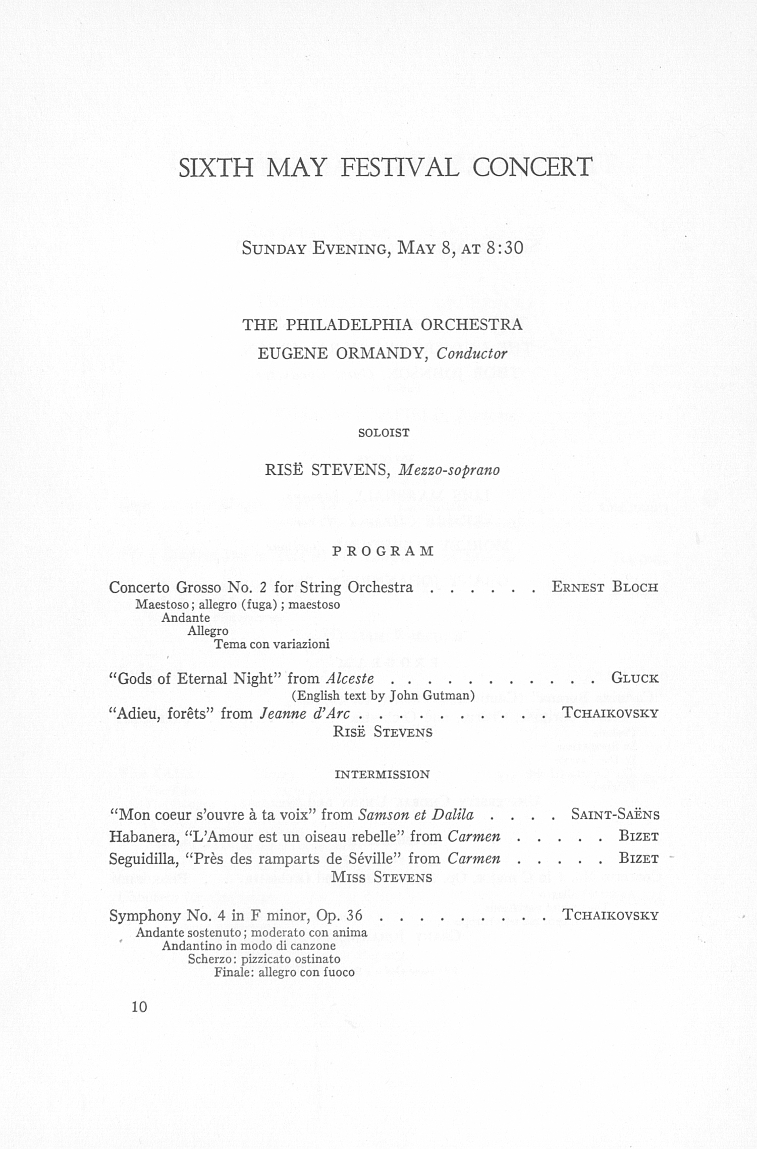 UMS Concert Program, May 5, 6, 7, 8, 1955: The Sixty-second Annual May