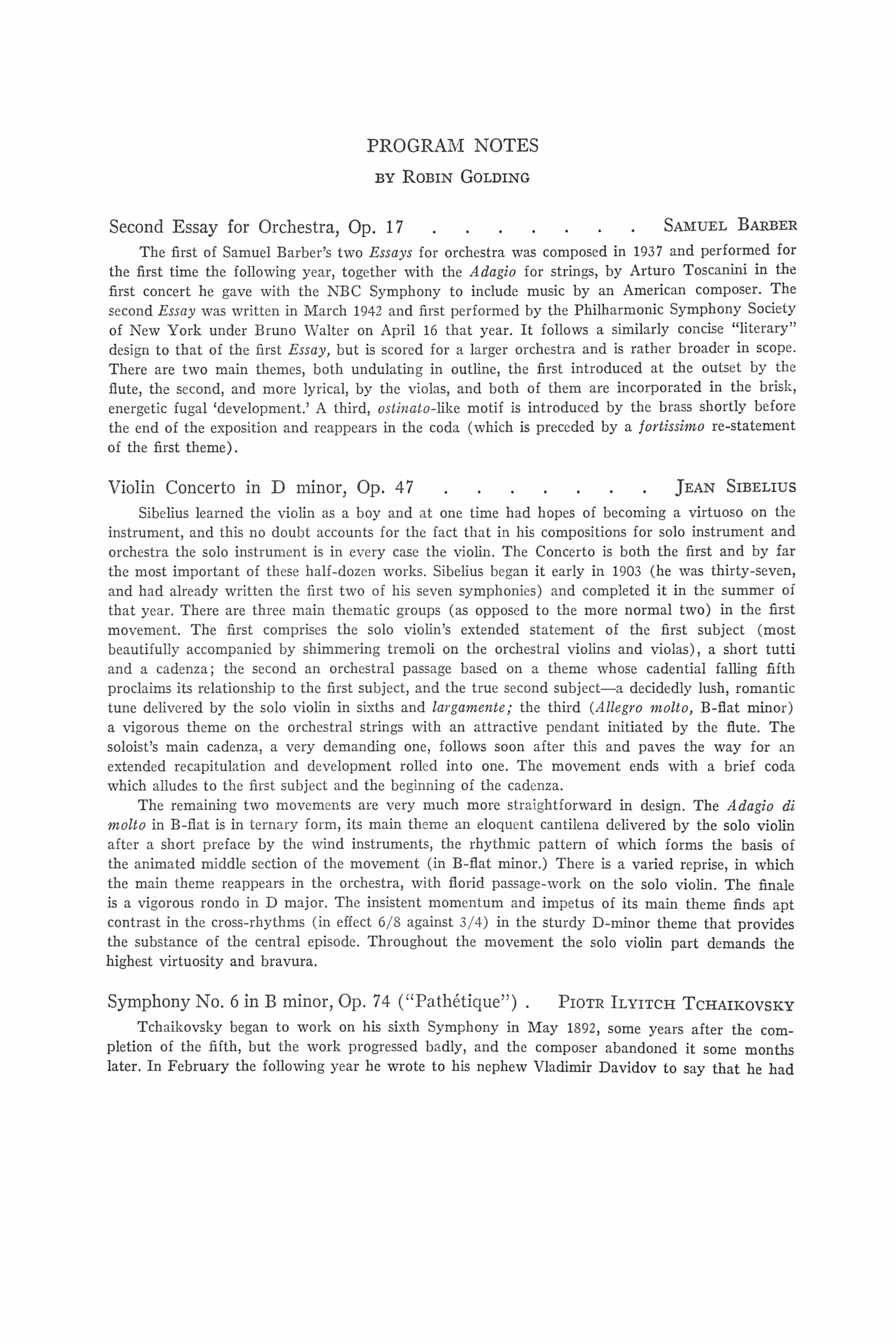 samuel barber first essay for orchestra score This piece is an arrangement for string orchestra of the as well as samuel barber's performance score are a part samuel barber at the library of congress.
