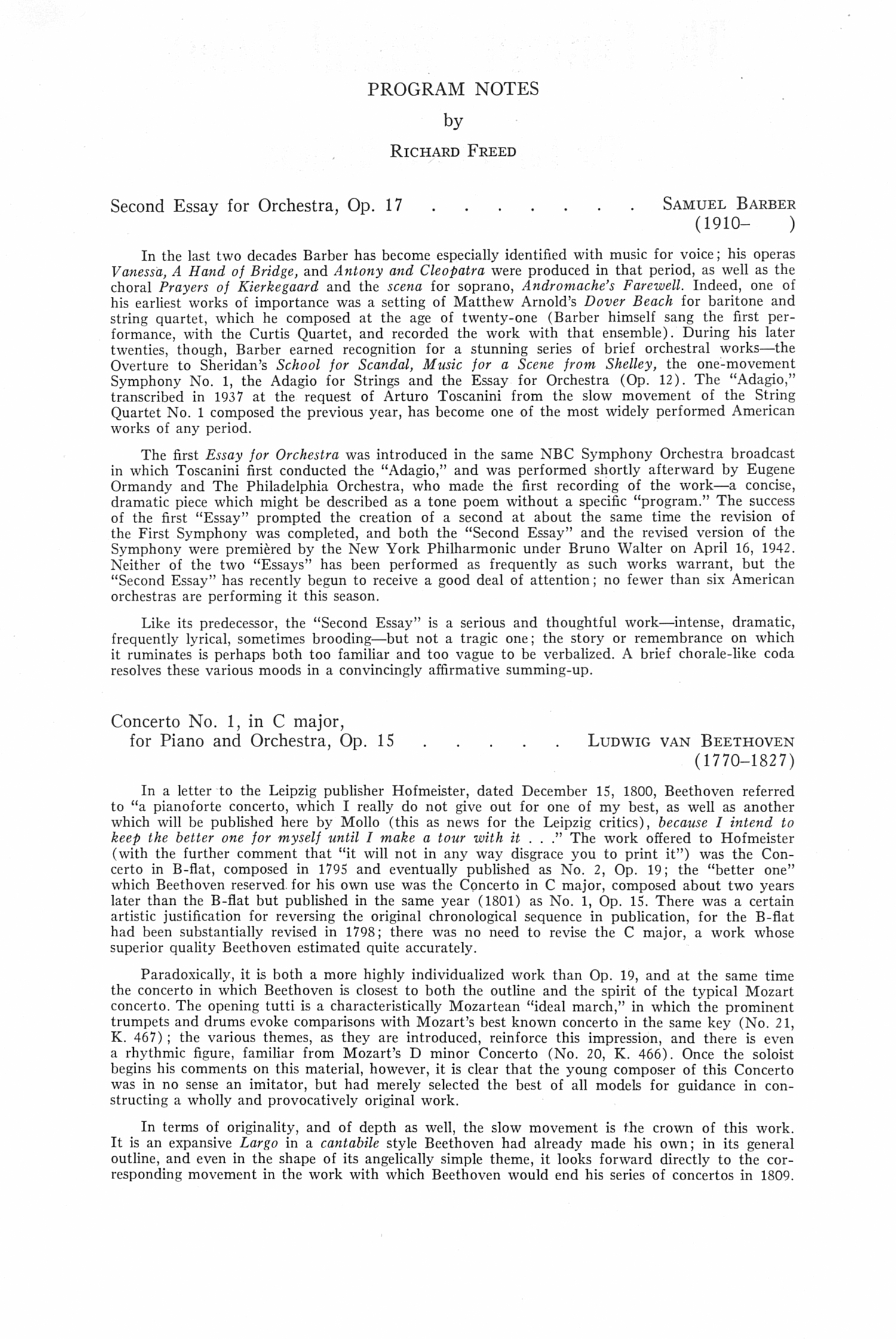 second essay for orchestra op. 17