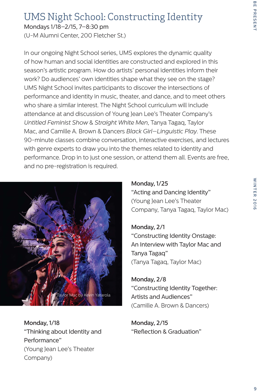 Ums Concert Program, March 15, 2016  J S Bach's St John Passion, Bwv  245 Apollo's Fire & Apol