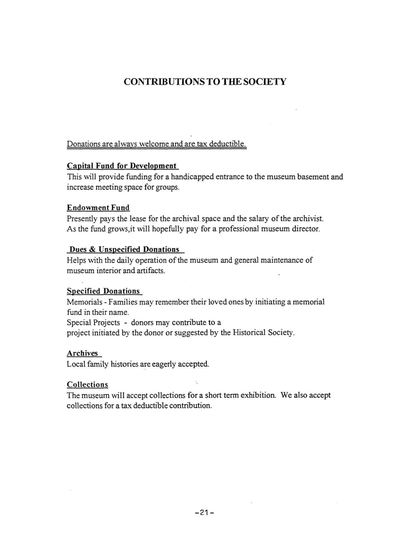 contributions to the society ypsilanti gleanings contributions to the society