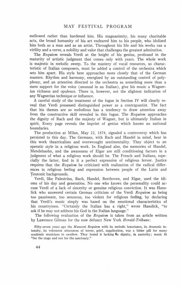 UMS Concert Program, April 22, 23, 24, 25, 1967: The Seventy ...